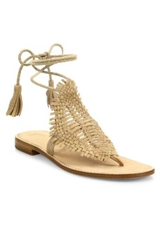 Joie Kacia Huarache Suede Lace-Up Sandals