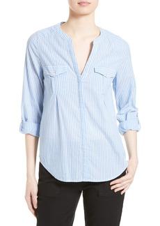 Joie Kalanchoe Cotton Roll Sleeve Shirt