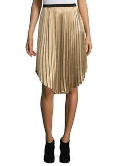 Joie Kambree Metallic Pleat Skirt