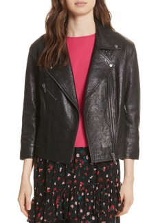 Joie Kameke Viva La Femme Lambskin Leather Jacket