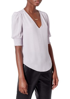 Joie Karamele V-Neck Silk Blouse