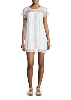 Joie Kastra Embroidered Lace Dress