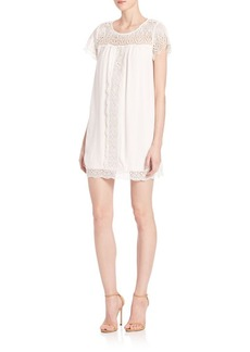 Joie Kastra Lace-Inset Dress