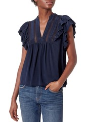 Joie Katima Ruffle Silk Blouse