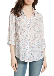Joie 'Katrine' Paisley Cotton & Silk Blouse