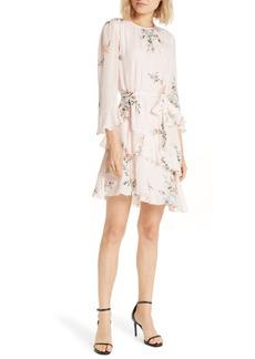 Joie Kayane Asymmetrical Tiered Ruffle Silk Dress