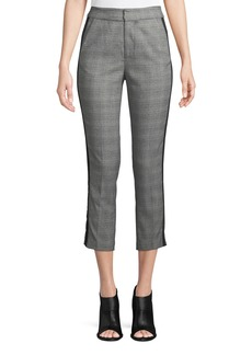 Joie Kenadia Side-Stripe Cropped Straight-Leg Pants
