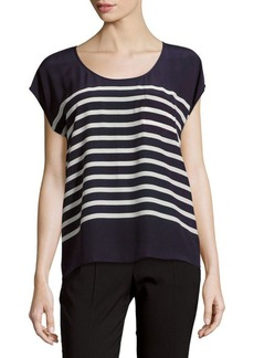 Joie Kendelline Raw Silk Striped Top