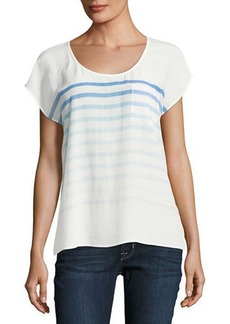 Joie Kendelline Striped Silk Blouse