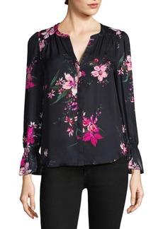 Joie Silk Keno Floral-Print Blouse