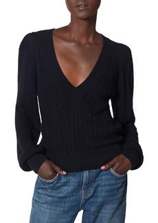 Joie Kerry Pointelle Knit Sweater
