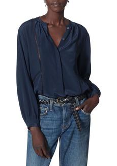 Joie Kesara Silk Button-Up Blouse