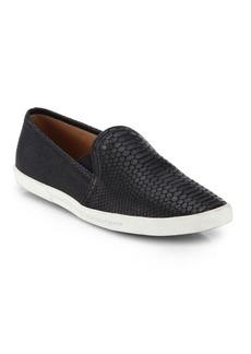 Joie Kidmore Crocodile-Embossed Leather Sneakers