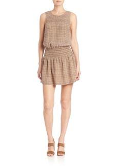 Joie Kiernan Silk Tile-Print Dress
