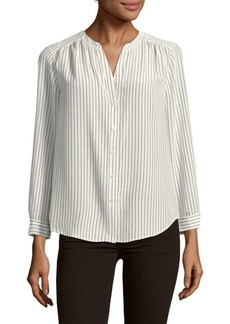 Joie Kira Stripe Silk Shirt