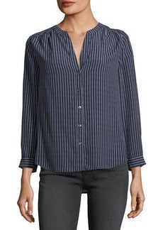 Joie Kira Striped Silk Blouse