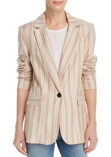 Joie Kishina Laced-Cuffs Striped Blazer