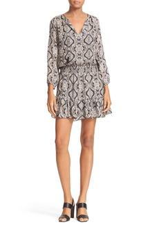 Joie Kleeia Print Silk Blouson Dress