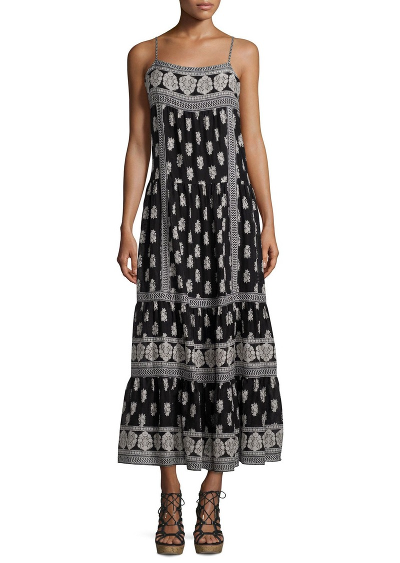 Joie Knightly Printed Cotton/Silk Maxi Dress
