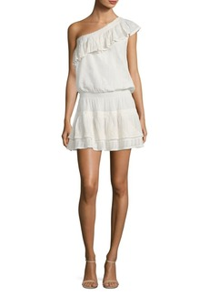 Joie Kolda Ruffled One Shoulder Dress