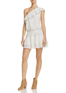 Joie Kolda Ruffled One Shoulder Dress
