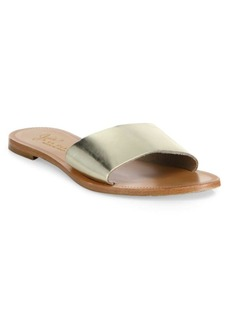 Joie Lacey Metallic Leather Slides