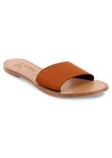 Joie Lacey Vacchetta Leather Slide Sandals