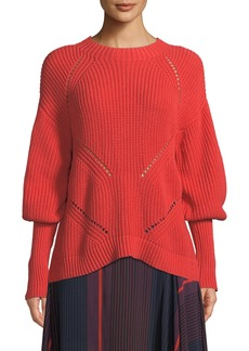 Joie Landyn Long-Sleeve Eyelet Sweater