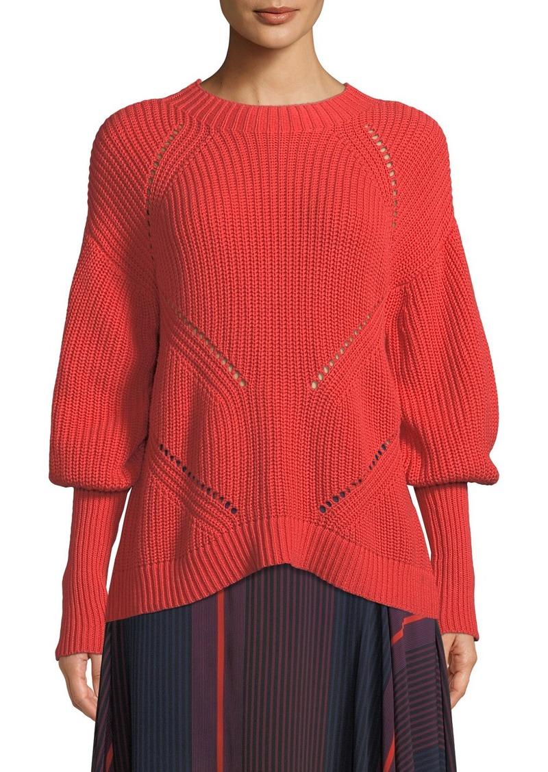 Joie Landyn Long-Sleeve Eyelet Sweater