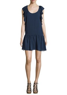 Joie Larose Ruffled Silk Dress