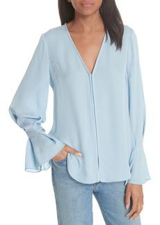 Joie Latacia Bell Cuff Silk Blouse