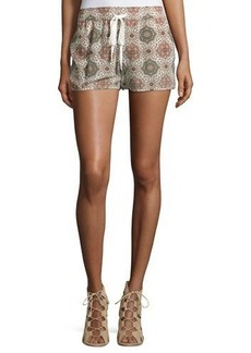 Joie Layana Tile-Printed Silk Shorts