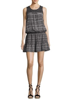 Joie Leilou Printed Sleeveless Silk Dress