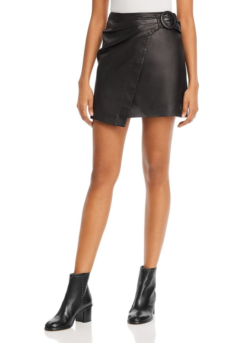 Joie Leonna Leather A-Line Mini Skirt