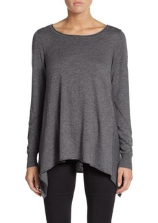 Joie Letitia Heathered Handkerchief Top