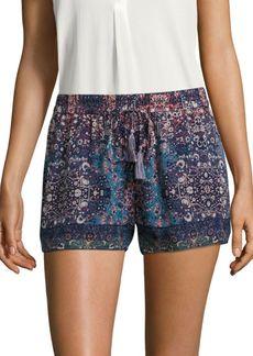 Joie Lindee Constellation-Printed Silk Shorts