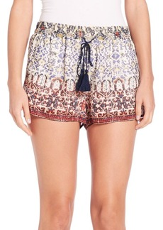 Joie Lindee Tile Paisley Silk Shorts