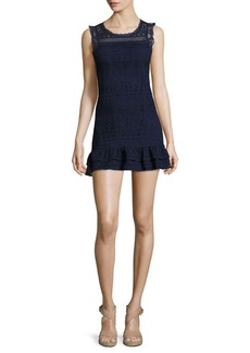Joie Lindell Sleeveless Lace Dress