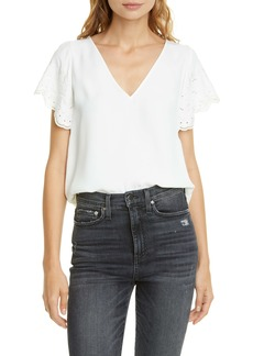 Joie Luce Lace Sleeve Top