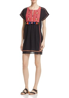 Joie Lucretia Embroidered Tassel Dress