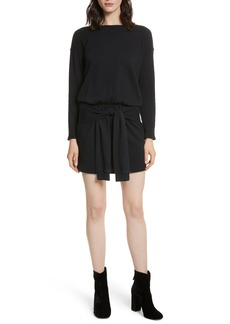 Joie Lucya Tie Waist Cotton Minidress