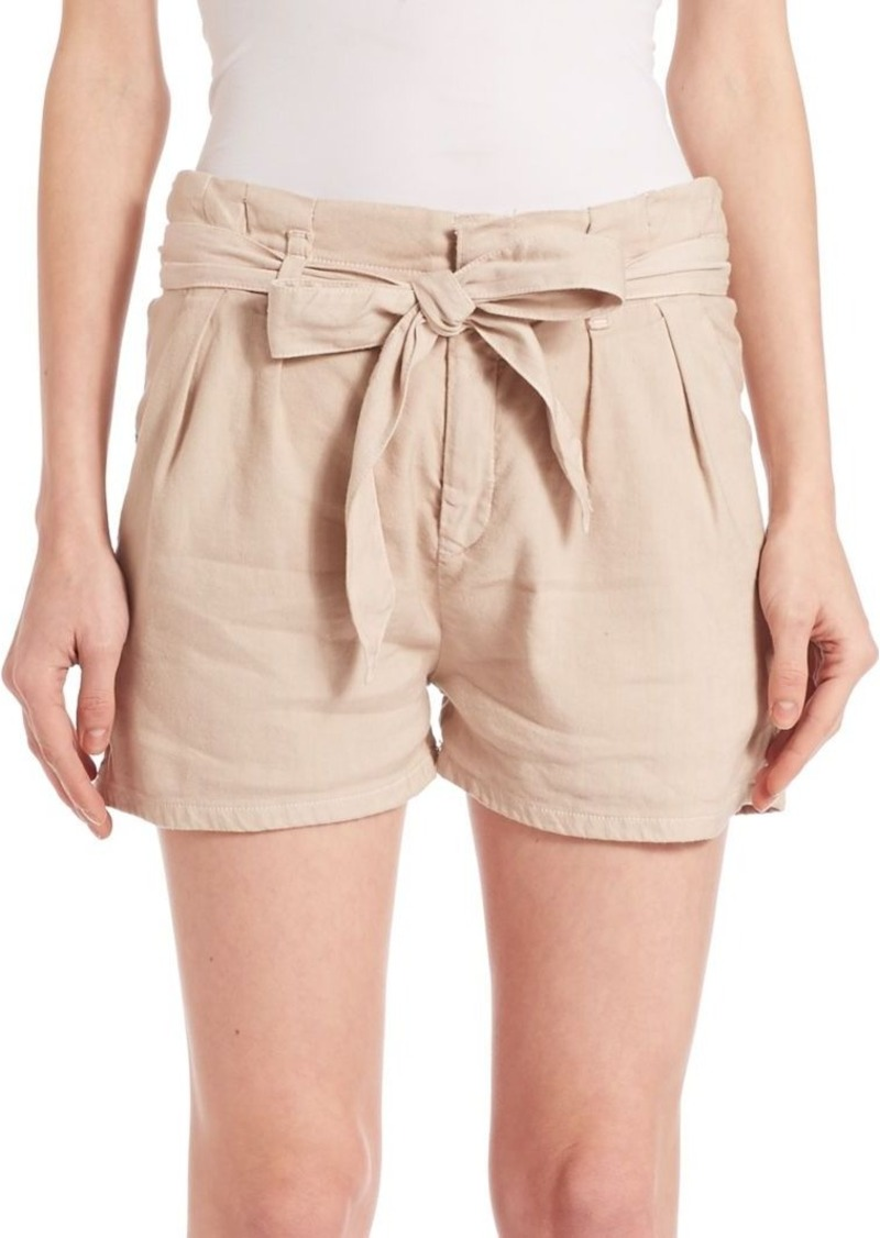 Joie Lunia Linen-Blend Shorts