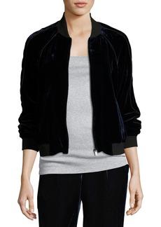 Joie Mace B Velvet Bomber Jacket