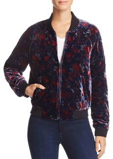 Joie Mace Quilted Floral-Print Bomber Jacket