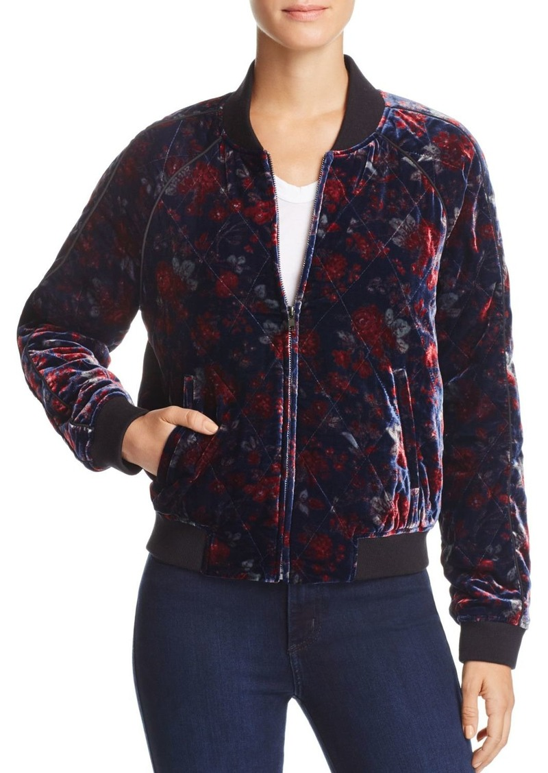 127cad4adc0 Joie Joie Mace Quilted Floral-Print Bomber Jacket Now $66.42