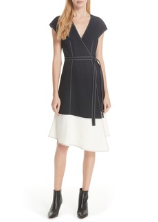 Joie Mahesa Colorblock Wrap Dress