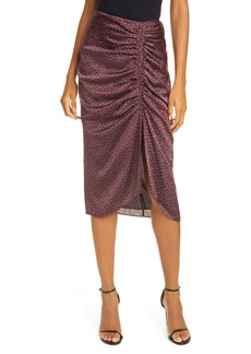 Joie Maira Ruched Satin Skirt