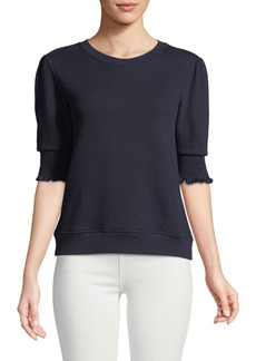 Joie Maita Short-Sleeve Cotton Top