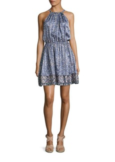 Joie Makana D Metallic Silk Dress