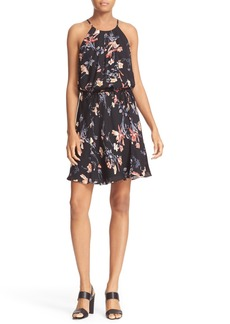 Joie Makana Floral Silk Blouson Dress